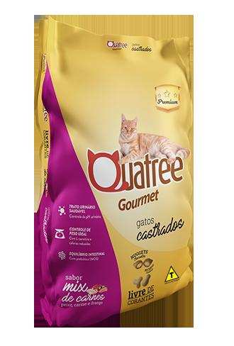 Quatree Gourmet Gatos Castrados Mix de Carnes